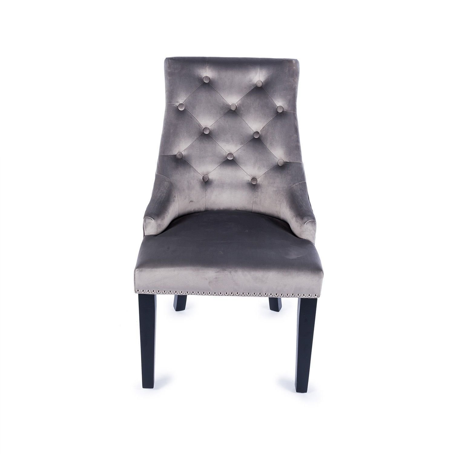 Best Light Grey Velvet Studded Dining Occasional Bedroom Chair With Knocker Ringpull Tcdh Lk K1 38 With Pictures